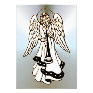 Christmas Angel Brass Trumpet Custom Announcement