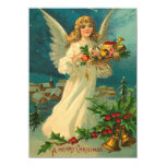 Christmas Angel Card Personalized Announcement