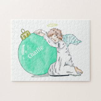 Christmas Angel custom name puzzle