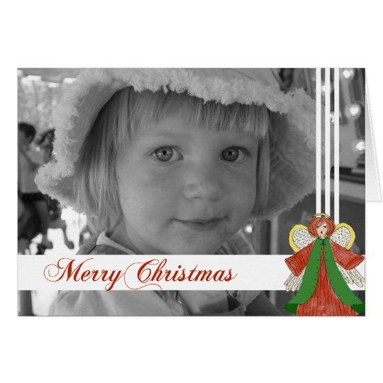 Christmas Angel Custom Photo Card