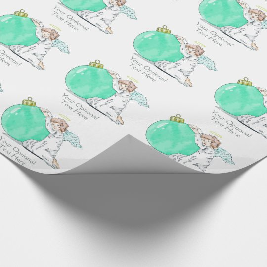 Christmas Angel custom text wrapping paper