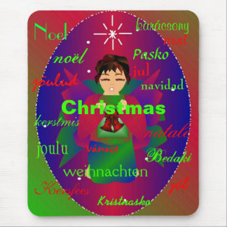 Christmas Angel From Around The World I Mousepad Mouse Pads