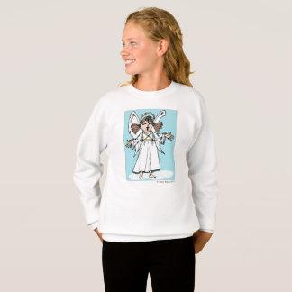 Christmas Angel girls' long-sleeve sweatshirt gift