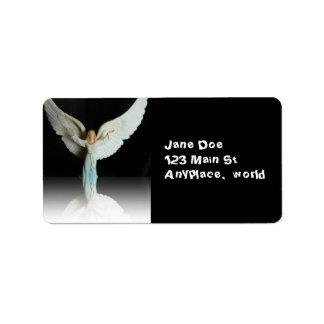 Christmas Angel label