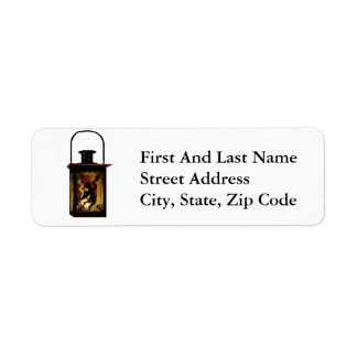 Christmas Angel Lantern Return Address Label