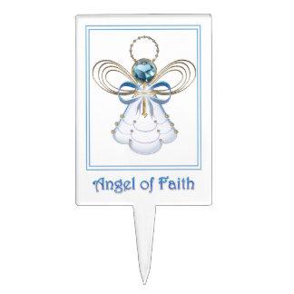 Christmas Angel of Faith Cake Picks