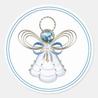 Christmas Angel of Faith Classic Round Sticker