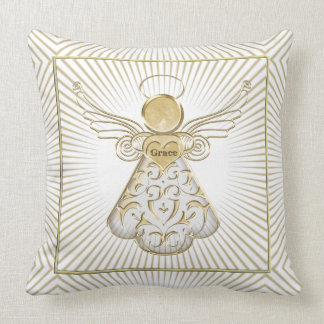Christmas Angel of Grace Geometric Holiday Cushions