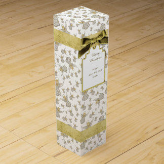 Christmas Angel of Grace Holiday Collage Pattern Wine Gift Box