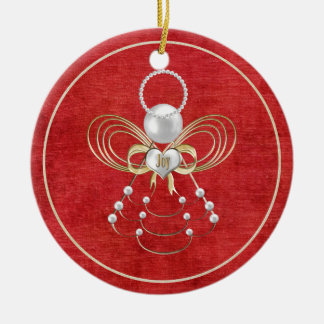 Christmas Angel of Joy - Red Christmas Ornament