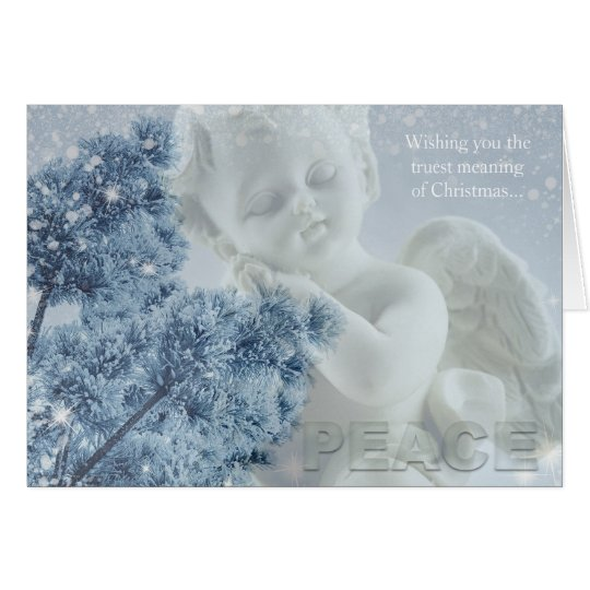 Christmas Angel of Peace Greeting Card