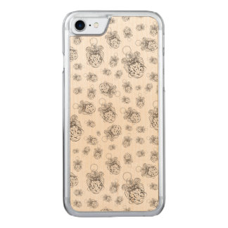 Christmas Angel of Peace Holiday Collage Pattern Carved iPhone 8/7 Case