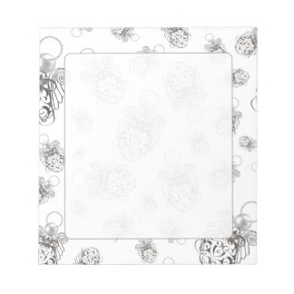 Christmas Angel of Peace Holiday Collage Pattern Notepad