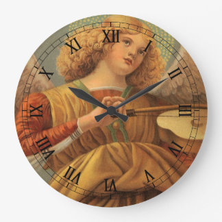 Christmas Angel Playing Violin Melozzo da Forli Large Clock