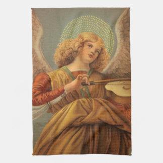 Christmas Angel Playing Violin Melozzo da Forli Tea Towel