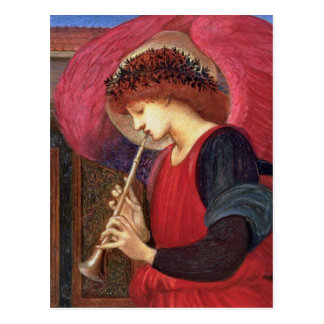 Christmas Angel Post Cards - Burne-Jones - Red
