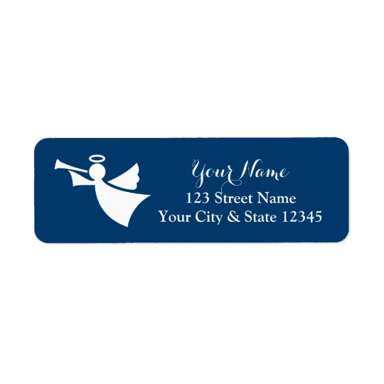 Christmas angel return address labels