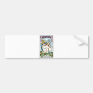 Christmas Angel ringing a bell Bumper Sticker