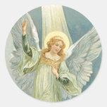 Christmas Angel Round Sticker