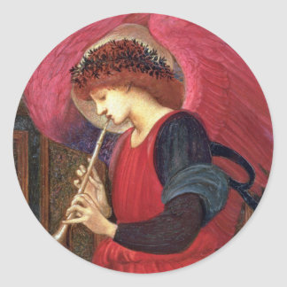 Christmas Angel Stickers - Burne-Jones - Red