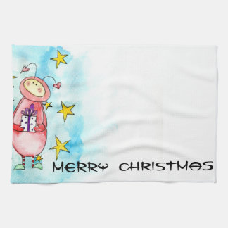 Christmas angel tea towel