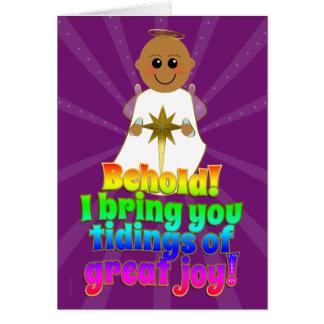 Christmas Angel Tidings of Great Joy Luke 2:10 Greeting Card
