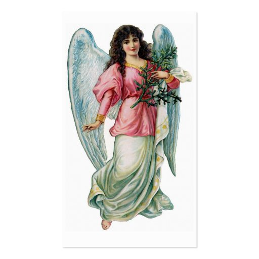 """Christmas Angel"" Vintage Gift Tag Business Card"