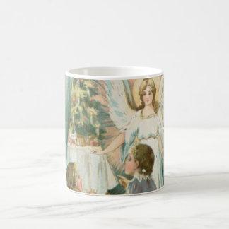 Christmas Angel with Children Classic White Coffee Mug