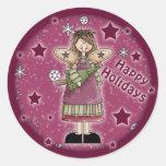 Christmas angel with Christmas tree Sticker