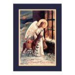 "Christmas Angel With Deer Invitation 5"" X 7"" Invitation Card"