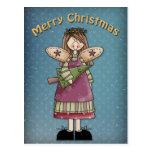 Christmas Angel with tree Postcard