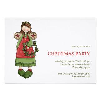 Christmas Angels · Angel & Wreath Card