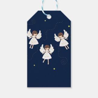 Christmas angels gift tags