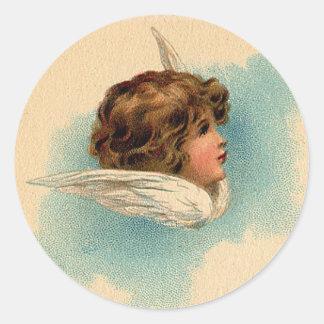 Christmas Angels Round Sticker