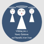 Christmas Angels Round Stickers