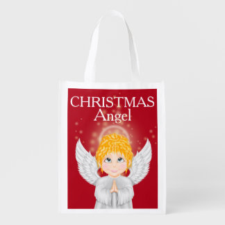 Christmas Angels Tote / Grocery Tote