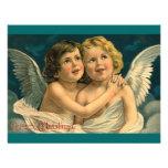 Christmas Angels - Vintage Art Invitation