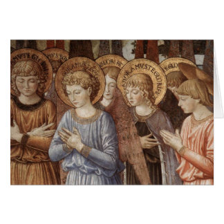 Christmas - Angels Worshipping (Close Up) Greeting Card