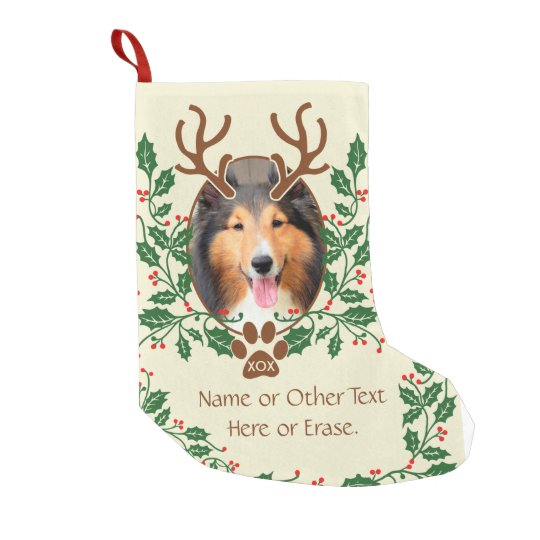 Christmas Antlers For Dog / Cat Personalise Photo
