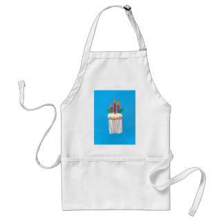 Christmas Apron Cupcake with Holly on Top