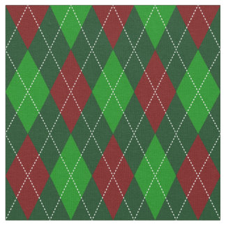 Christmas Argyle Fabric