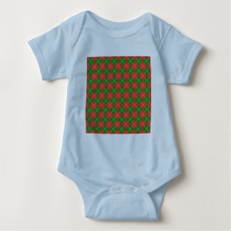 Christmas Argyle - Green, Red and White T-shirt
