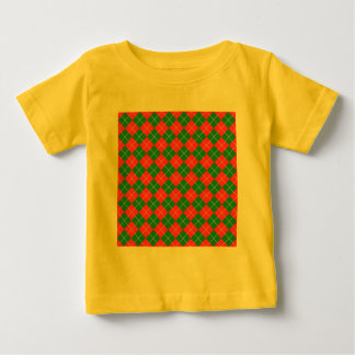 Christmas Argyle - Green, Red and White T-shirts