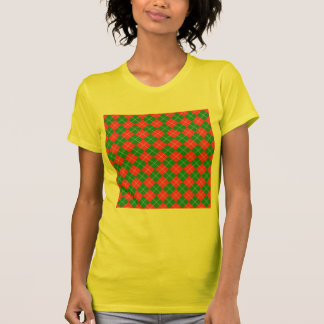 Christmas Argyle - Green, Red and White Tee Shirts