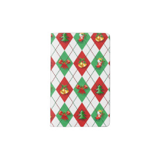 Christmas Argyle Pocket Moleskine Notebook