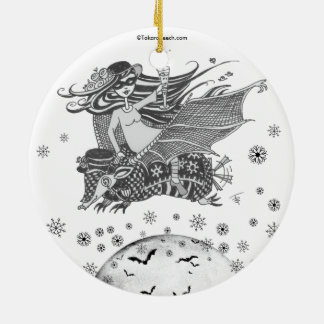Christmas Armadillo Grincheux Angel Wishes on back Christmas Ornament