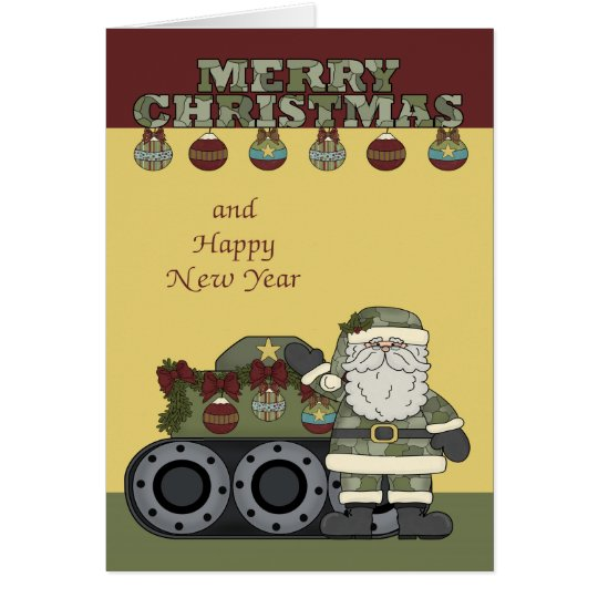 Christmas, Army Greeting Card