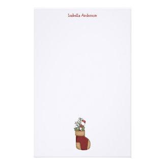 Christmas Arrangements · Stocking Candy Cane Custom Stationery
