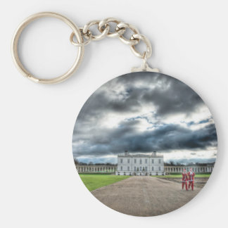 Christmas at Queen's House, Greenwich London Basic Round Button Key Ring