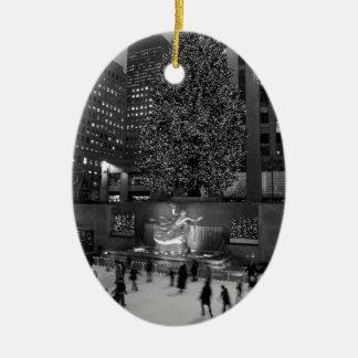 Christmas at Rockefeller Center & the Ice Skaters Christmas Ornament